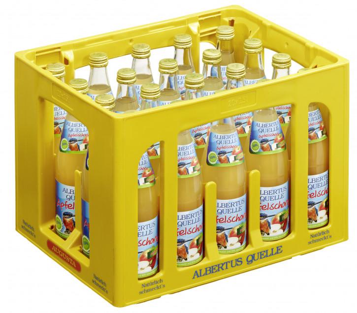 Albertusquelle Apfelschorle trüb 20 x 0,5 Glas