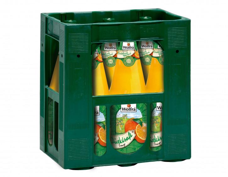 Wolfra Orangen-Direktsaft 6 x 1,0 Glas