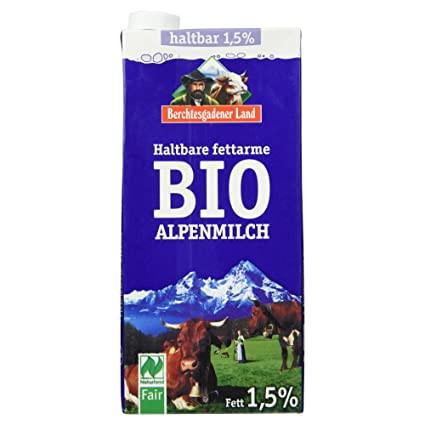 Berchtesgadener Bio H-Milch 1,5 % Tetra 12er