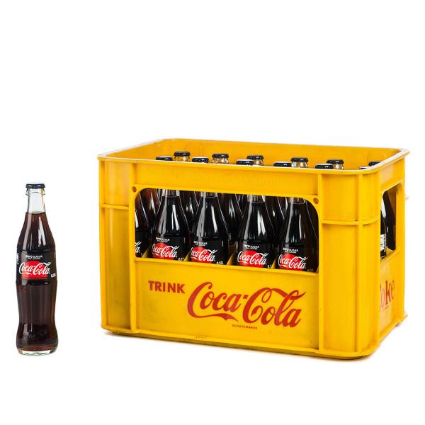 Coca Cola Zero 24 x 0,33 Glas