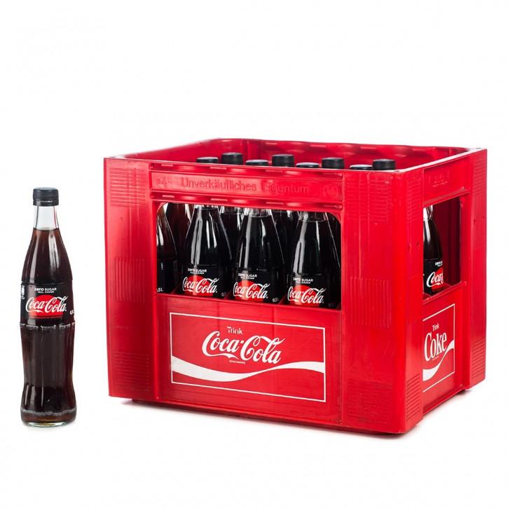 Coca Cola Zero 20 x 0,5 Glas