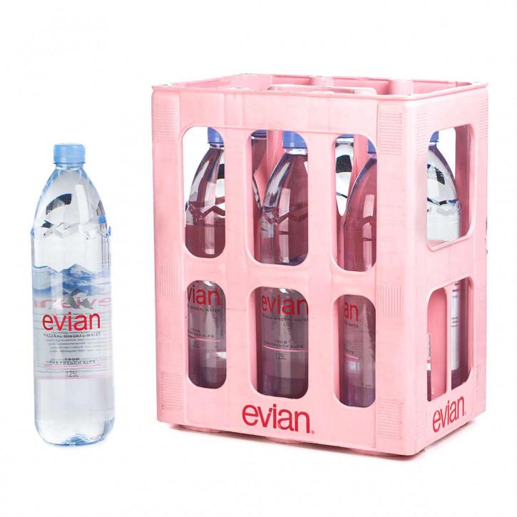 Evian 6 x 1,25 PET