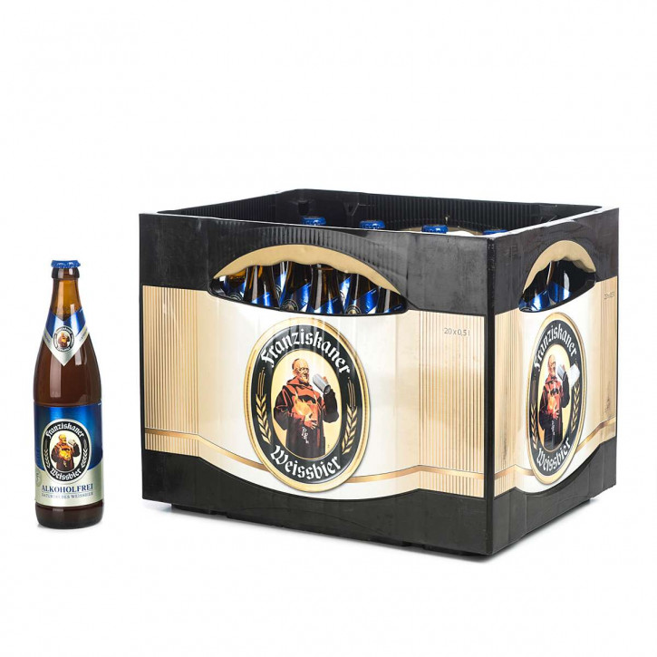 Franziskaner Weißbier alkoholfrei 20 x 0,5