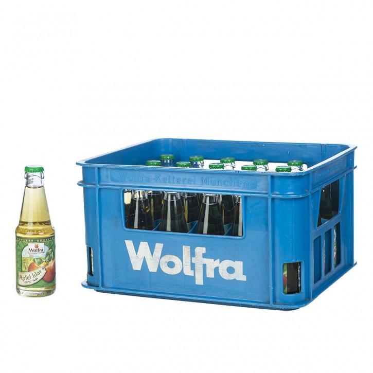 Wolfra Apfelsaft klar 30 x 0,2 Glas