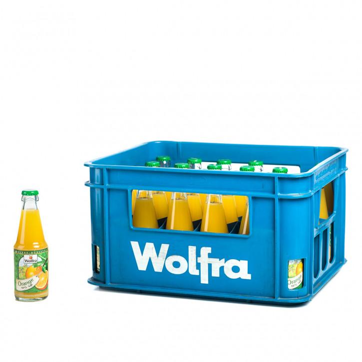 Wolfra Orangensaft 30 x 0,2 Glas