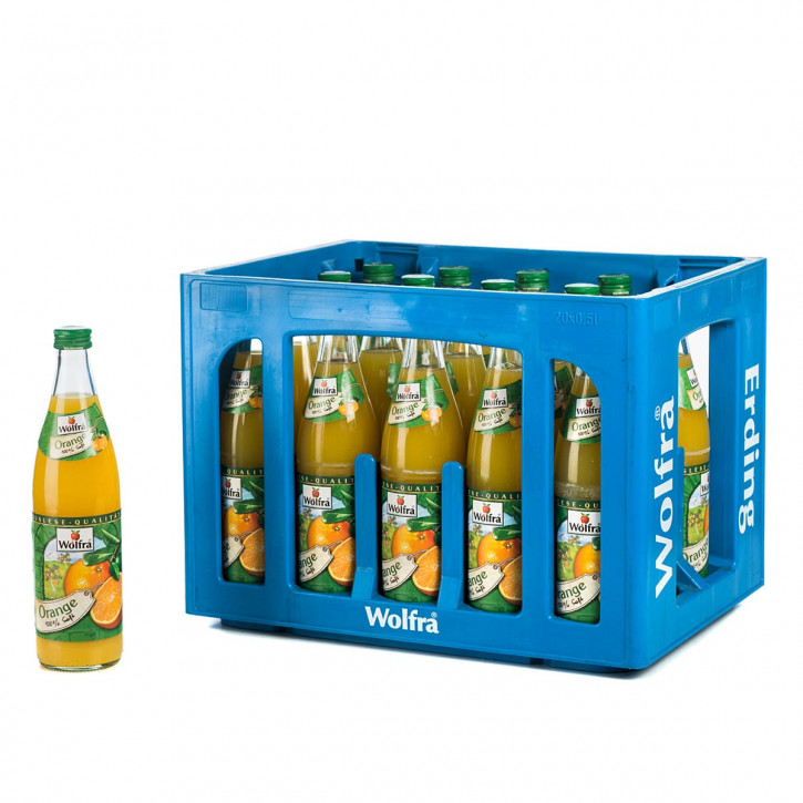 Wolfra Orangensaft 20 x 0,5 Glas